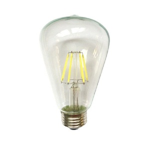 Лампа светодиодная филаментная ST58 6W(СДВ)